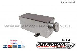 Deposito Agua 1.75LT Aravena parts Chile 1 competicion, reservorio aluminio tanque